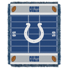 Indianapolis Colts NFL Field Woven Jacquard Baby Throw by Northwest Company