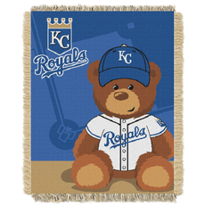 Kansas City Royals MLB Field Bear Woven Jacquard Baby Throw by Northwest Company