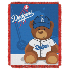 Los Angeles Dodgers MLB Field Bear Woven Jacquard Baby Throw by Northwest Company