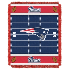 New England Patriots NFL Field Woven Jacquard Baby Throw by Northwest Company