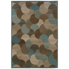 Oriental Weavers Adrienne 3729F Geometric Beige and Blue Area Rug