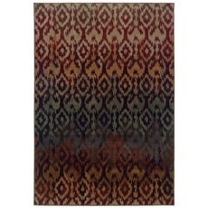 Oriental Weavers Adrienne 3809G Tribal Multi Red Area Rug