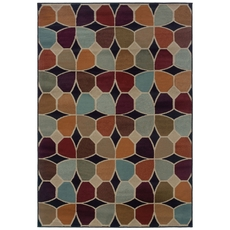 Oriental Weavers Adrienne 3836E Geometric Multi Grey Area Rug