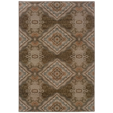Oriental Weavers Adrienne 3840E Oriental Grey and Brown Area Rug