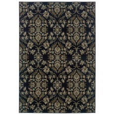 Oriental Weavers Adrienne 3960G Floral Navy and Gray Area Rug