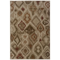 Oriental Weavers Adrienne 4173B Tribal Ikat Grey and Orange Area Rug