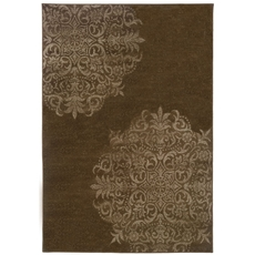 Oriental Weavers Adrienne 4174D Oriental Brown and Stone Area Rug