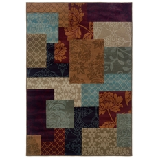 Oriental Weavers Adrienne 4198A Geometric Chevron Multi Colored Area Rug