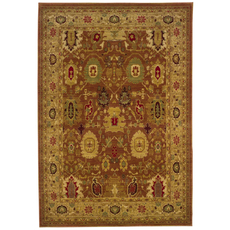 Oriental Weavers Allure 6F Oriental Rust and Gold Area Rug