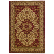 Oriental Weavers Allure 11D Oriental Red and Gold Area Rug