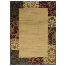 Oriental Weavers Amelia 2166J Border Beige and Red Area Rug