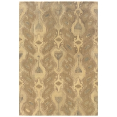Oriental Weavers Anastasia 68004 Abstract Ikat Ivory and Beige Area Rug