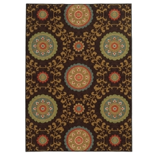 Oriental Weavers Arabella 15757 Floral Multi Brown Area Rug
