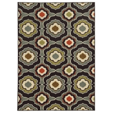 Oriental Weavers Arabella 15834 Floral Black and Grey Area Rug