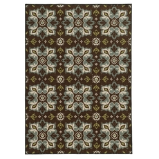 Oriental Weavers Arabella 15837 Floral Brown and Blue Area Rug
