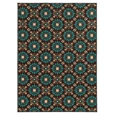 Oriental Weavers Arabella 15862 Floral Brown and Blue Area Rug