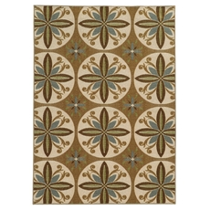 Oriental Weavers Arabella 15863 Floral Tan and Ivory Area Rug