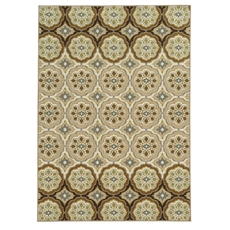 Oriental Weavers Arabella 15868 Floral Ivory and Tan Area Rug