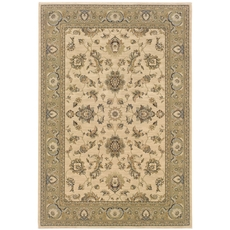 Oriental Weavers Ariana 2153C Floral Ivory and Green Area Rug
