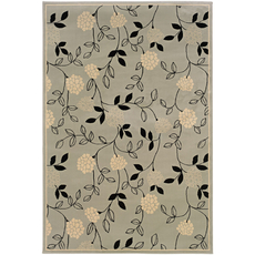 Oriental Weavers Ariana 2285F Floral Blue and Black Area Rug