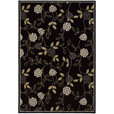 Oriental Weavers Ariana 2285G Floral Black and Green Area Rug