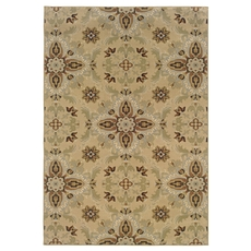 Oriental Weavers Ariana 2313A Floral Gold and Green Area Rug