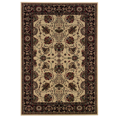 Oriental Weavers Ariana 431I Floral Ivory and Black Area Rug