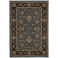 Oriental Weavers Ariana 623H Floral Blue and Black Area Rug