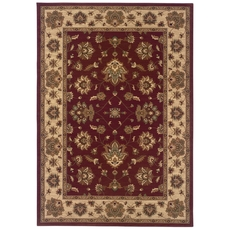Oriental Weavers Ariana 623V Floral Red and Ivory Area Rug