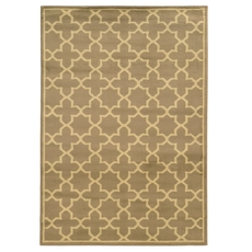Oriental Weavers Brentwood 91D Geometric Trefoil Tan and Beige Area Rug