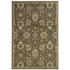 Oriental Weavers Brentwood 1330E Oriental Floral Brown and Beige Area Rug