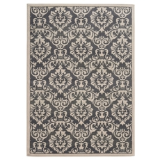 Oriental Weavers Brentwood 530K Floral Charcoal and Ivory Area Rug