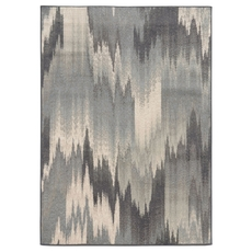 Oriental Weavers Brentwood 8020L Abstract Ikat Multi Blue Area Rug