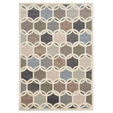 Oriental Weavers Brentwood 90W Geometric Ivory and Multicolor Area Rug
