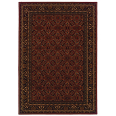 Oriental Weavers Cambridge 180C Oriental Red and Black Area Rug