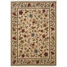 Oriental Weavers Camden 1196C Floral Ivory and Beige Area Rug