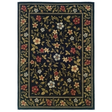 Oriental Weavers Camden 1196D Floral Black and Green Area Rug