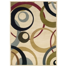 Oriental Weavers Camden 1251E Geometric Ivory and Beige Area Rug