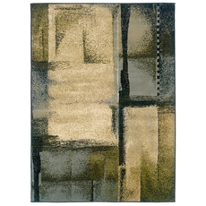 Oriental Weavers Camden 2141C Abstract Beige and Blue Area Rug