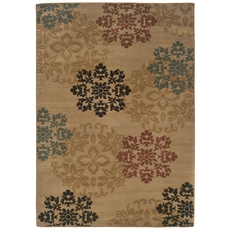 Oriental Weavers Camden 2320A Floral Gold and Red Area Rug