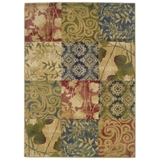 Oriental Weavers Camden 2422A Floral Beige and Green Area Rug