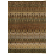 Oriental Weavers Casablanca 4455A Geometric Brown and Green Area Rug
