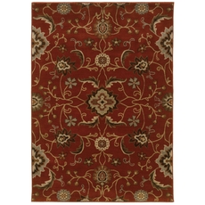 Oriental Weavers Casablanca 4471B Floral Red and Multicolor Area Rug