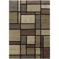 Oriental Weavers Covington 5502I Geometric Beige and Midnight Area Rug