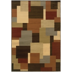 Oriental Weavers Darcy 2065D Geometric Brown and Beige Area Rug
