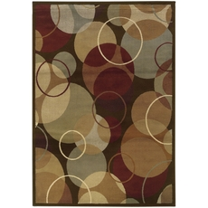 Oriental Weavers Darcy 2066D Geometric Brown and Gold Area Rug