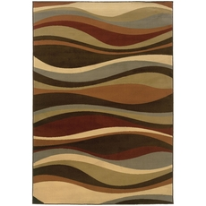 Oriental Weavers Darcy 4442N Abstract Brown and Green Area Rug