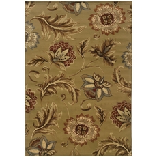 Oriental Weavers Darcy 701J Floral Tan and Gold Area Rug