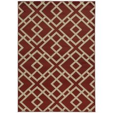Oriental Weavers Ella 3685J Geometric Red and Beige Area Rug