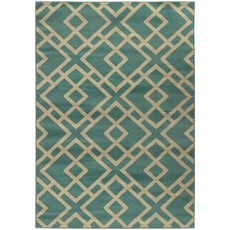 Oriental Weavers Ella 3685M Geometric Blue and Beige Area Rug